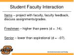 student faculty interaction
