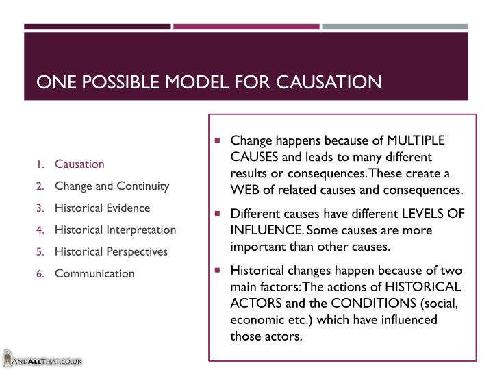 One Possible Model for Causation