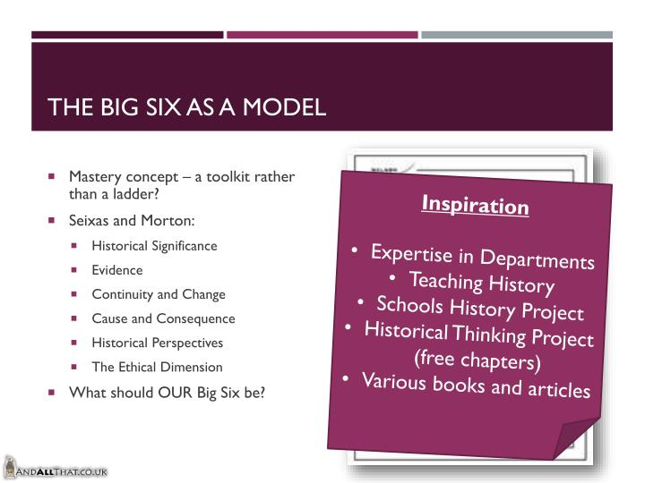 The Big Six as a Model