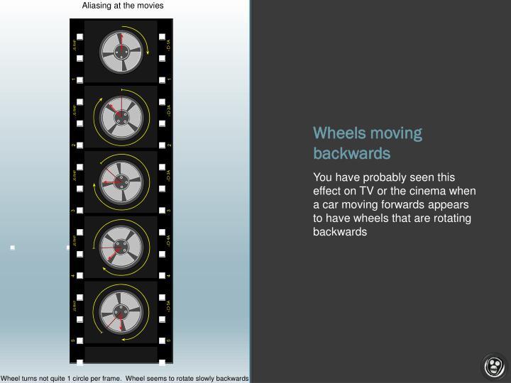 Wheels moving backwards