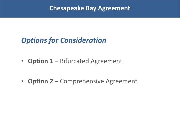 Chesapeake Bay Agreement