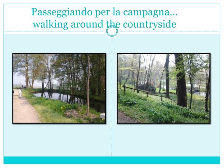 Passeggiando per la campagna walking around the countryside