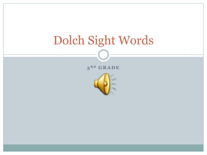 dolch sight words n.