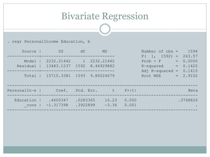 Bivariate Regression