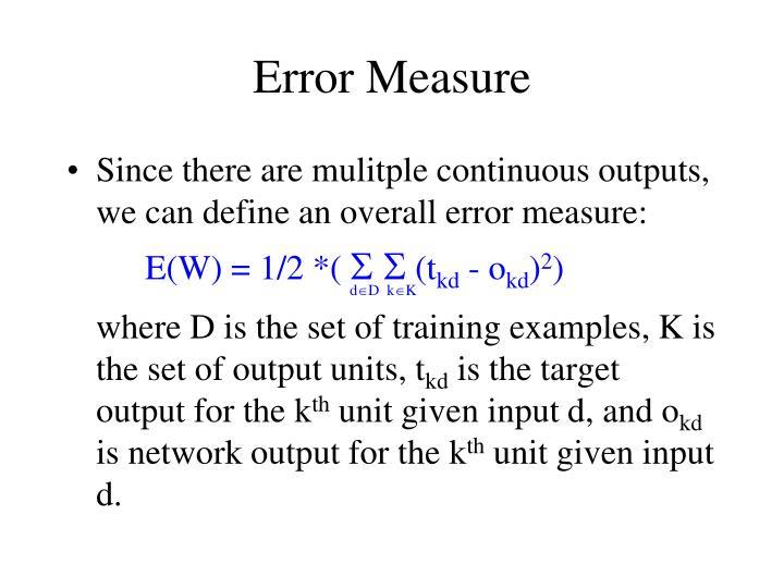 Error Measure