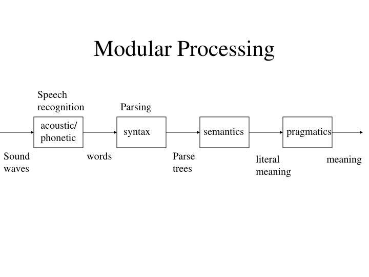 Modular Processing