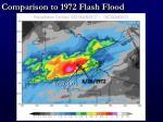 comparison to 1972 flash flood1