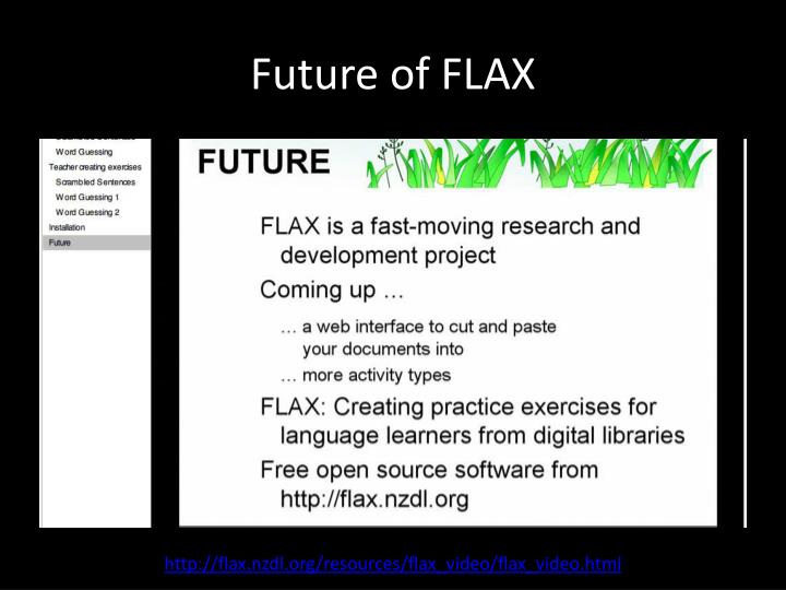 Future of FLAX