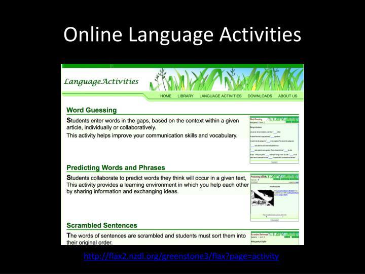 Online Language Activities