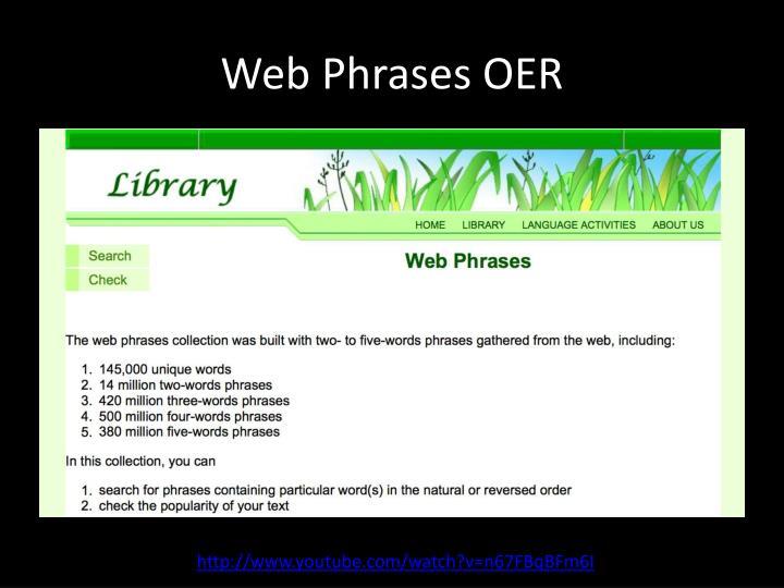 Web Phrases OER