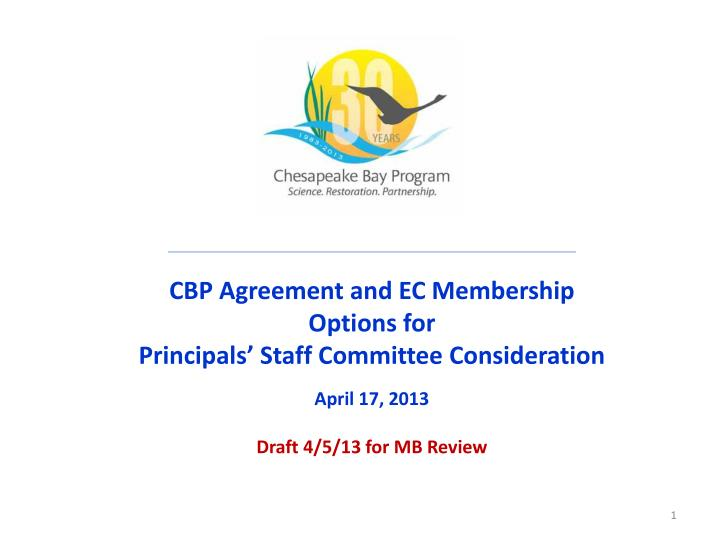 CBP Agreement and EC Membership
