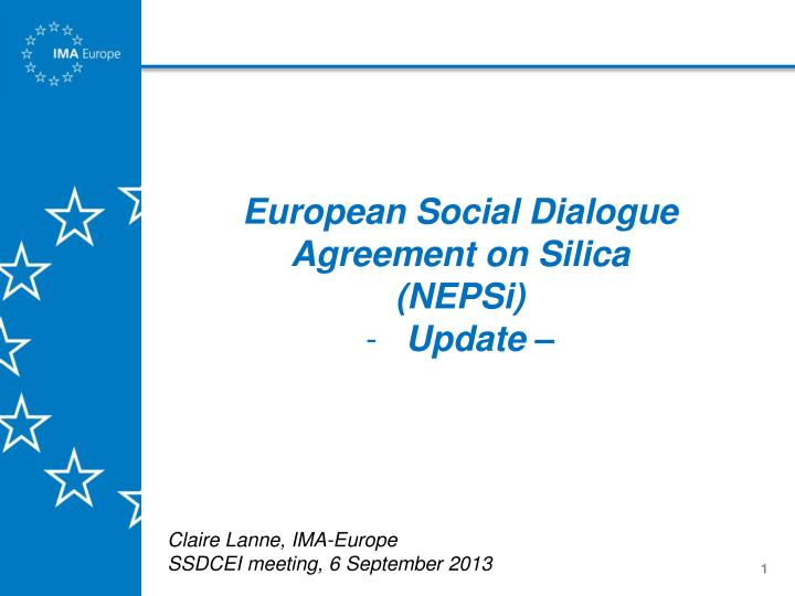 European Social Dialogue Agreement on Silica