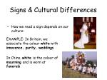 signs cultural differences