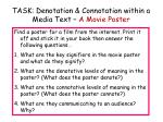 task denotation connotation within a media text a movie poster