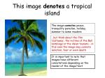 this image denotes a tropical island