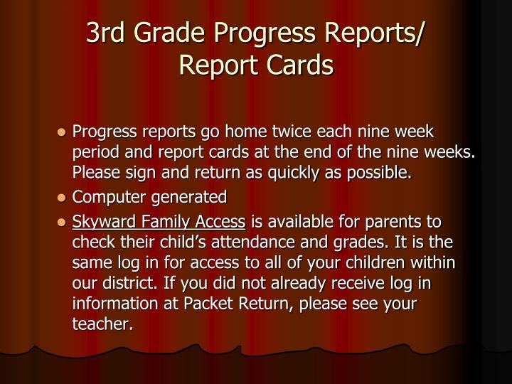 Progress reports go home