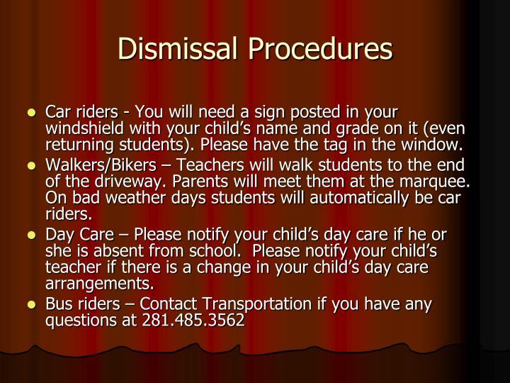 Dismissal Procedures