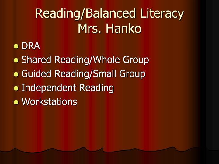 Reading/Balanced