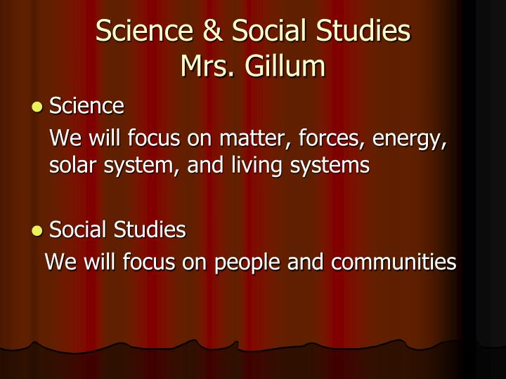 Science & Social
