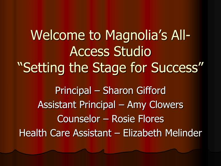 Welcome to magnolia s all access studio setting the stage for success