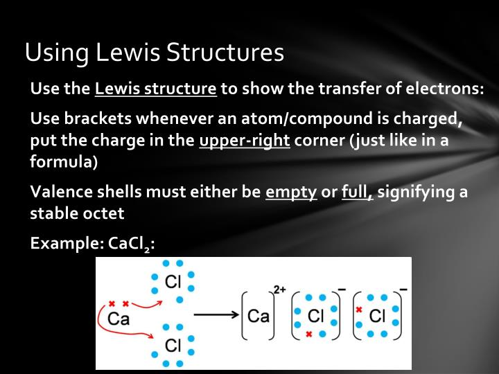 Using lewis structures