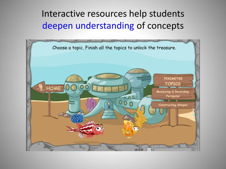Interactive resources help students