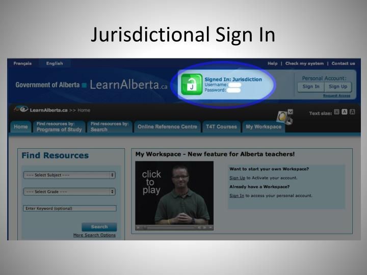 Jurisdictional Sign In