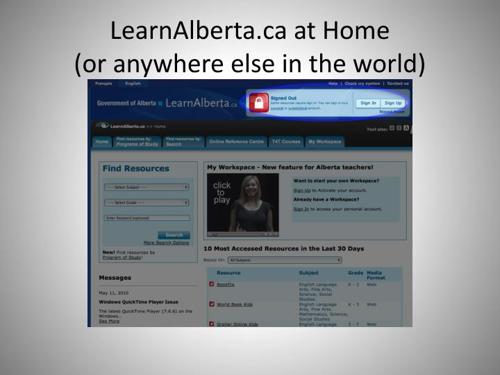 LearnAlberta.ca at Home