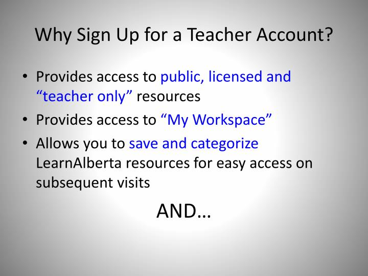 Why Sign Up for a Teacher Account?