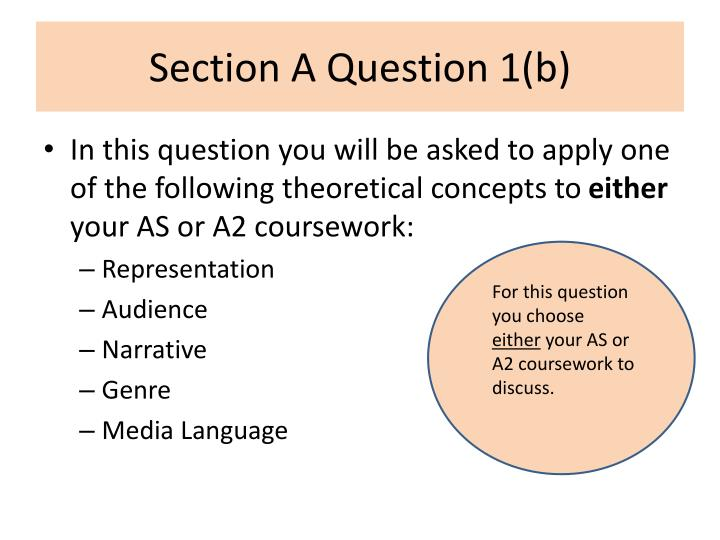Section a question 1 b