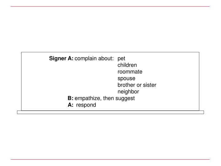 Signer A: