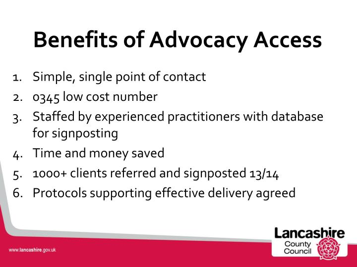 Benefits of Advocacy Access