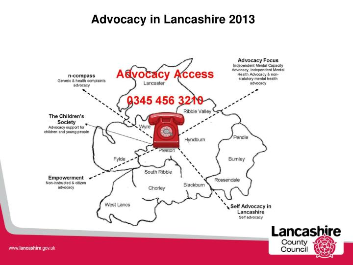 Advocacy in Lancashire 2013