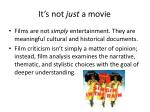 it s not just a movie