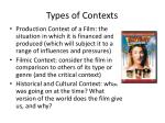 types of contexts
