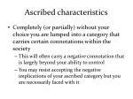 ascribed characteristics