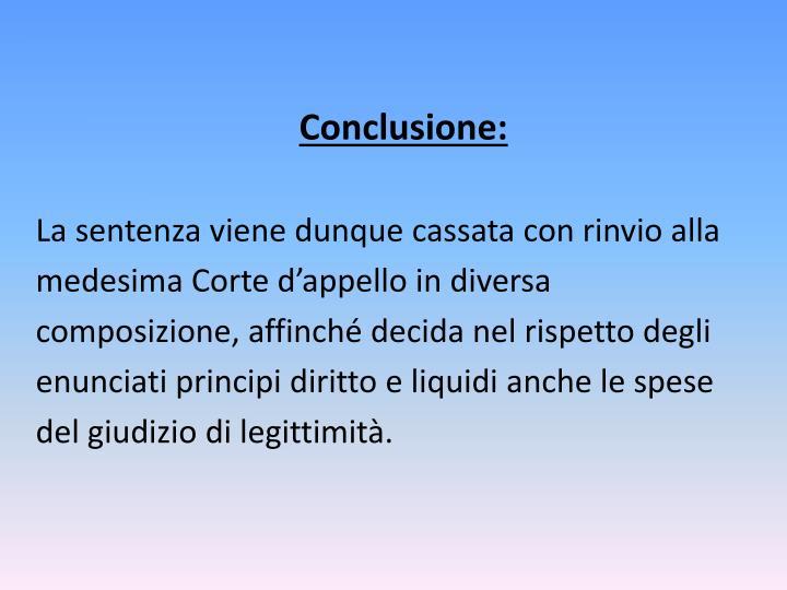 Conclusione: