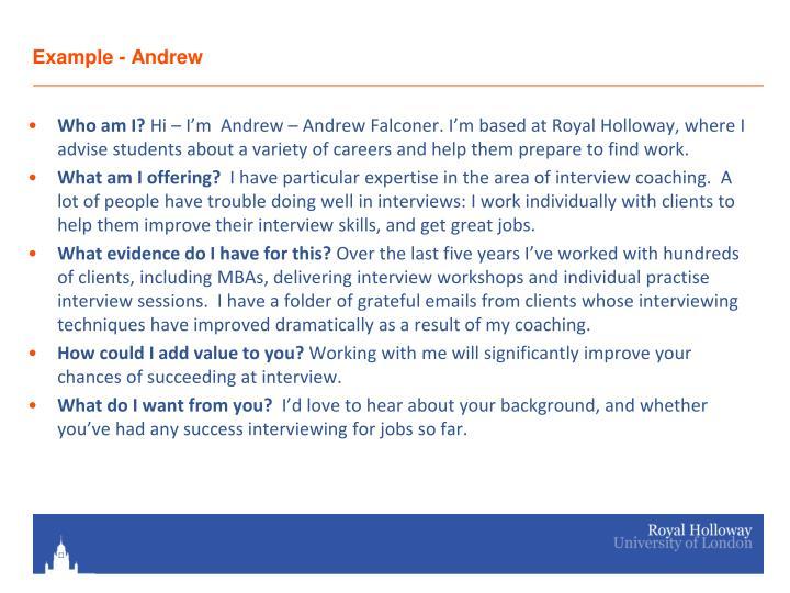 Example - Andrew