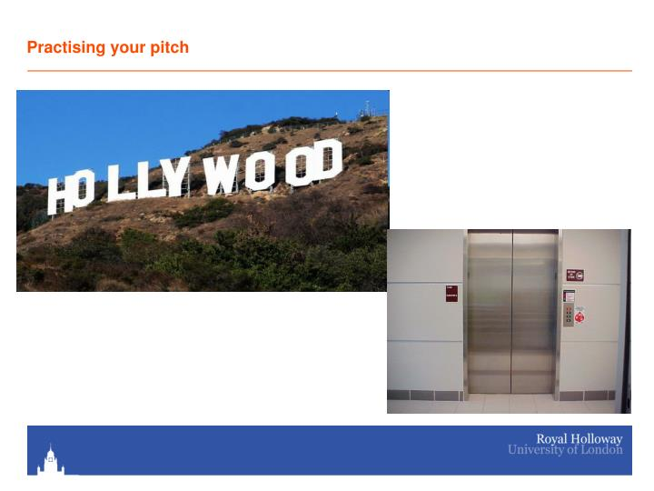 Practising your pitch