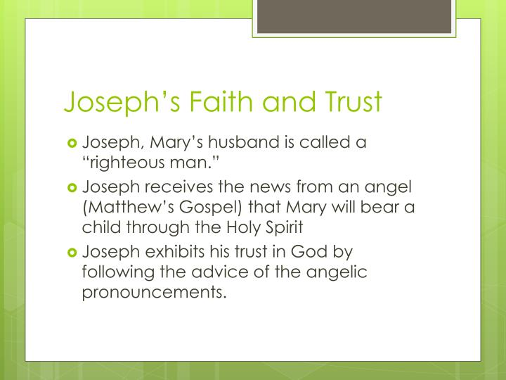 Joseph's Faith and Trust
