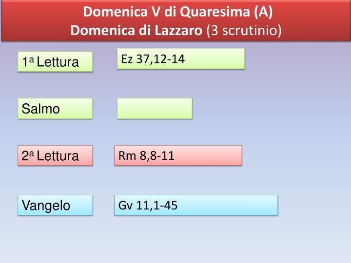 Domenica V di Quaresima (A)
