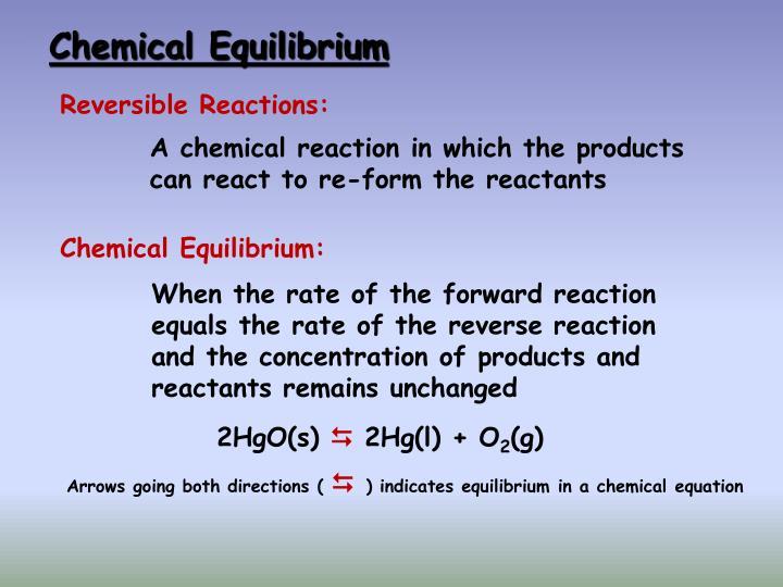Chemical equilibrium1