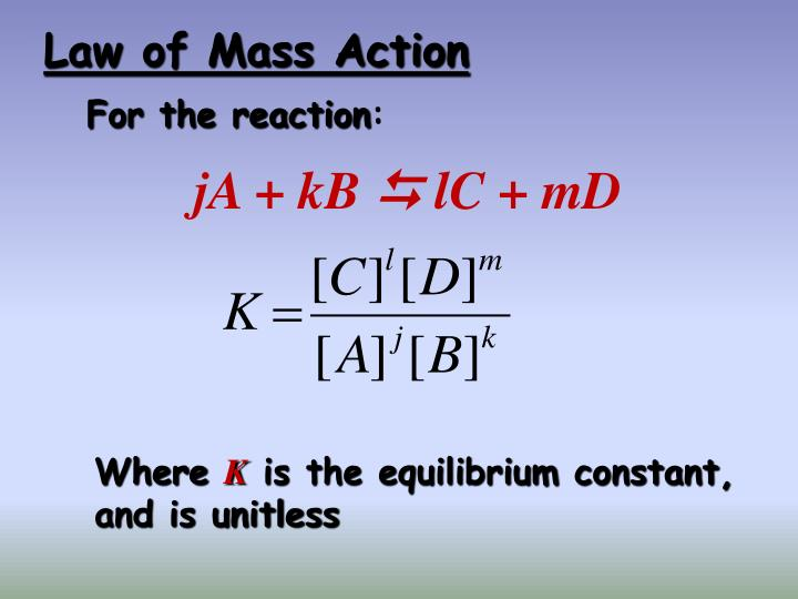 Law of Mass Action