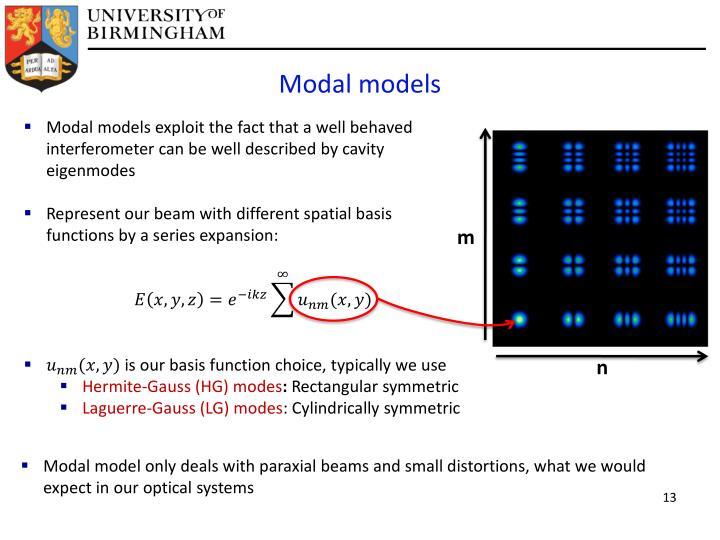 Modal models