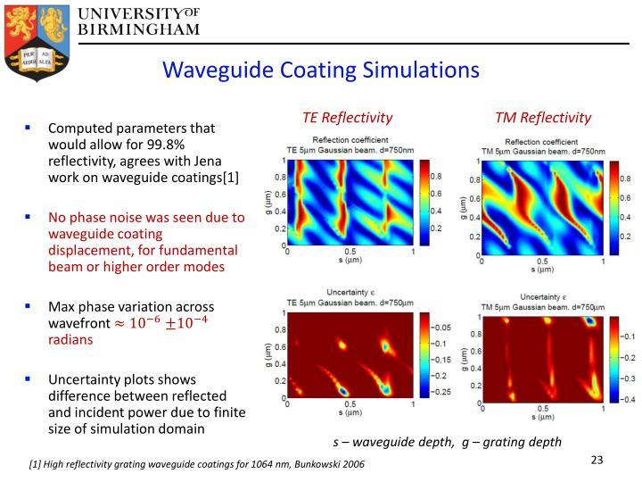 Waveguide Coating Simulations