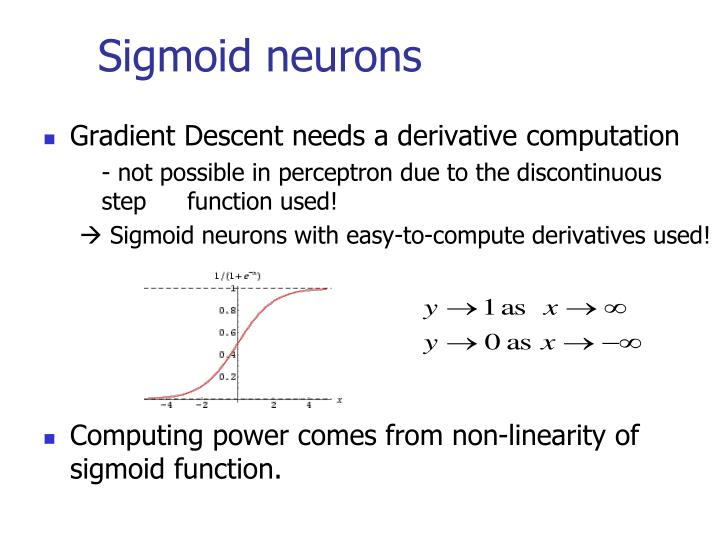 Sigmoid neurons