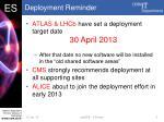 deployment reminder
