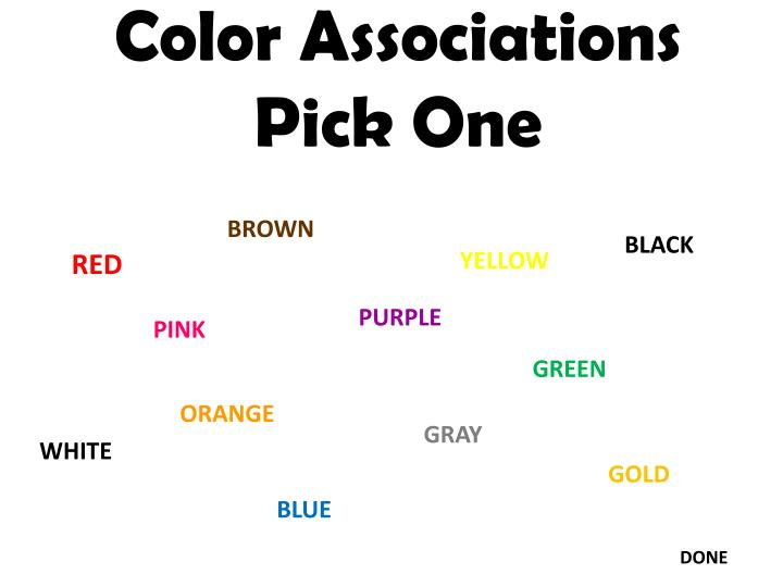 Color Associations