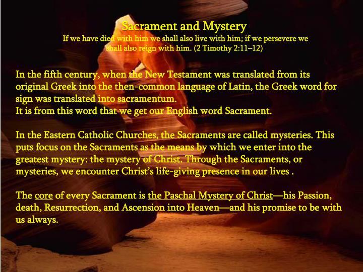 Sacrament and