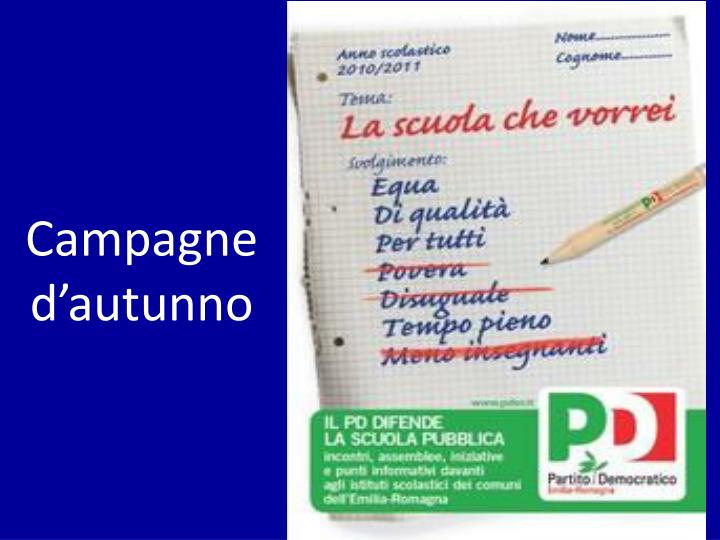 Campagne d'autunno